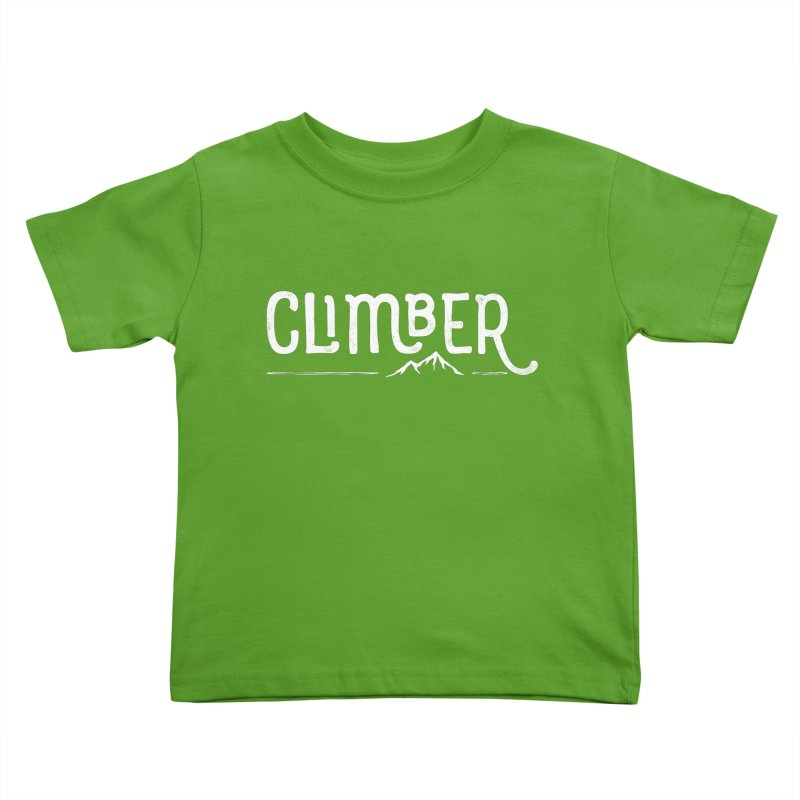 Climber - In White Kids Toddler T-Shirt by Red Pixel Studios