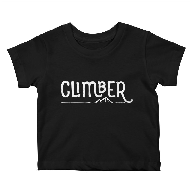 Climber - In White Kids Baby T-Shirt by Red Pixel Studios