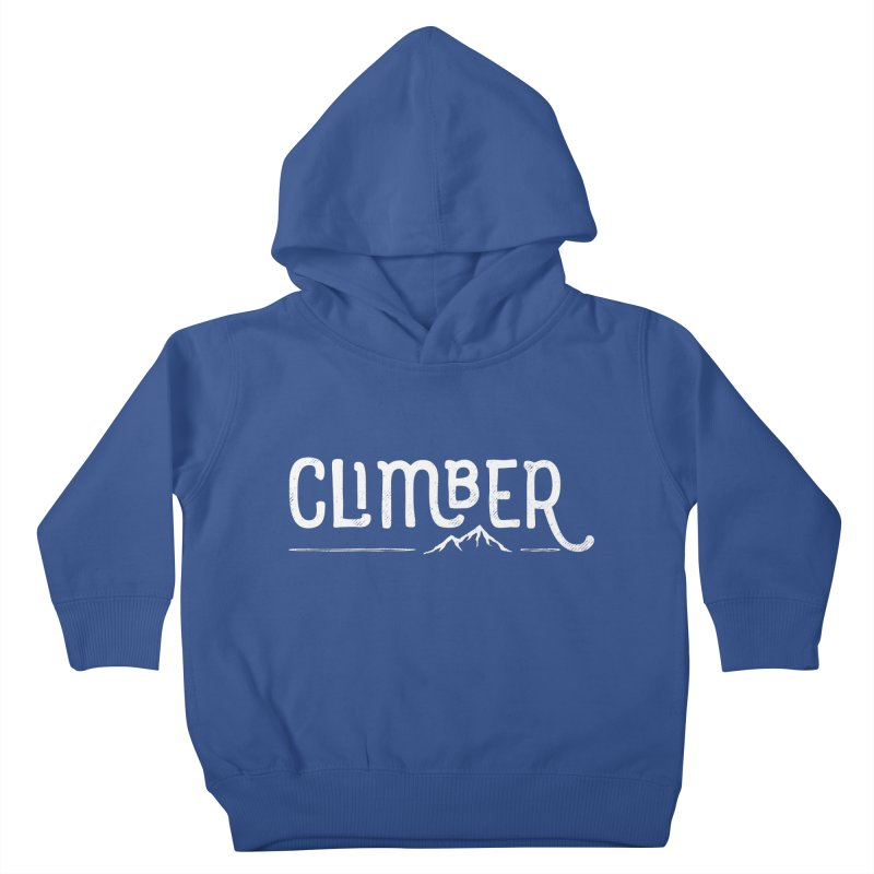 Climber - In White Kids Toddler Pullover Hoody by Red Pixel Studios