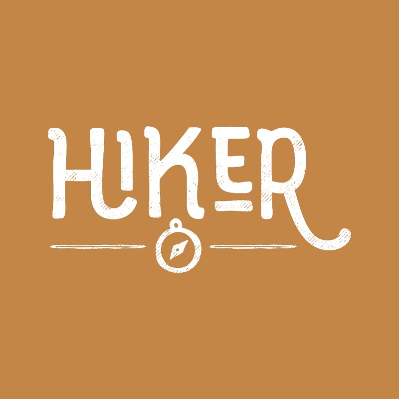 Hiker - In White Kids T-Shirt by Red Pixel Studios