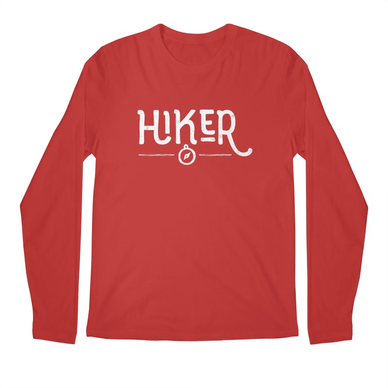 Hiker - In White Men's Regular Longsleeve T-Shirt by Red Pixel Studios