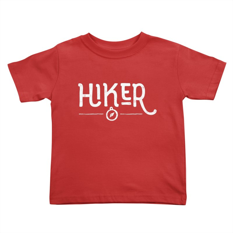 Hiker - In White Kids Toddler T-Shirt by Red Pixel Studios