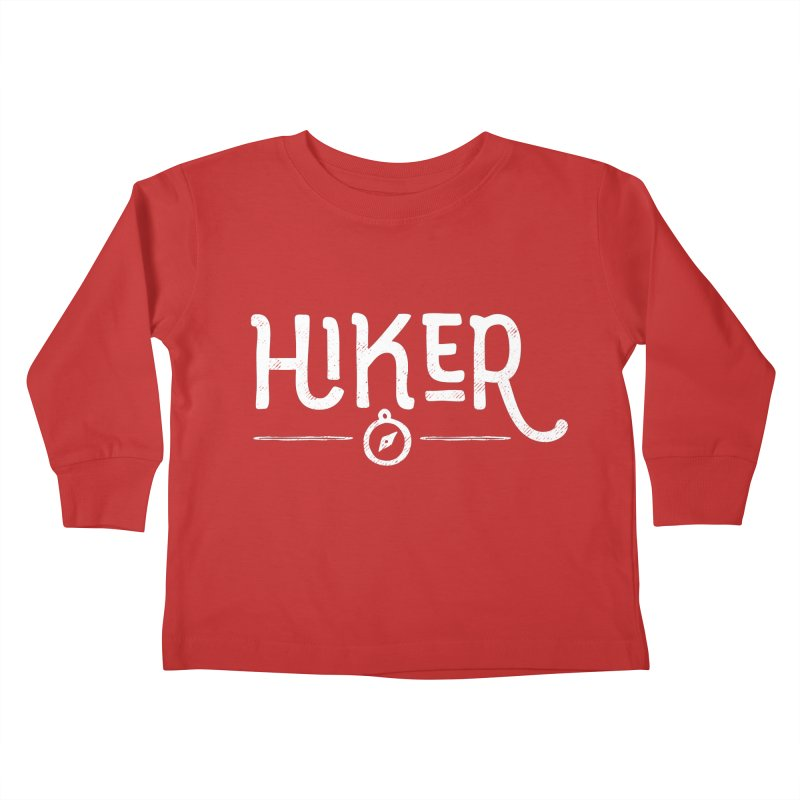 Hiker - In White Kids Toddler Longsleeve T-Shirt by Red Pixel Studios
