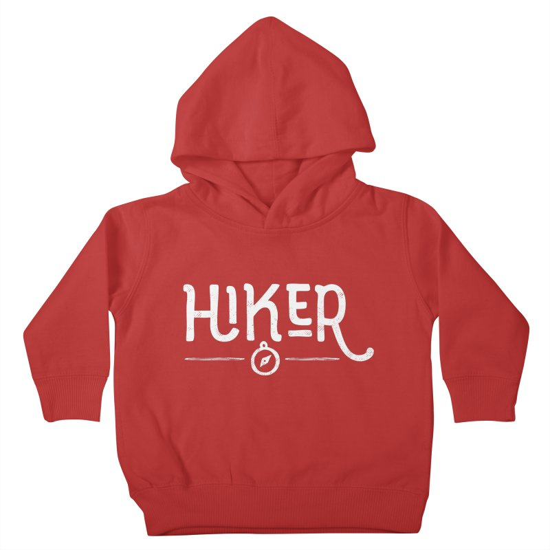 Hiker - In White Kids Toddler Pullover Hoody by Red Pixel Studios