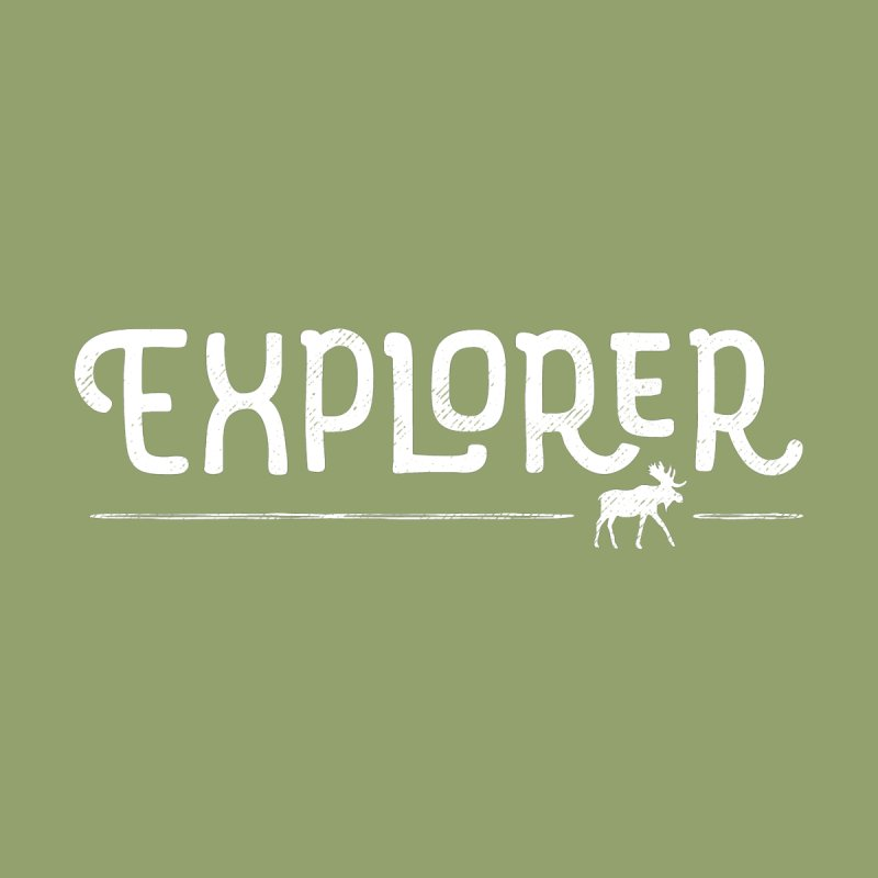 Explorer - In White Women's T-Shirt by Red Pixel Studios