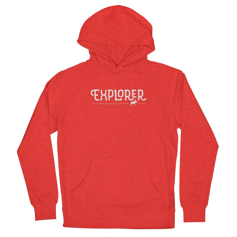 Explorer - In White Men's Pullover Hoody by Red Pixel Studios