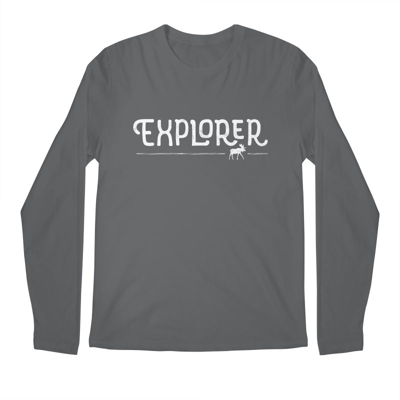 Explorer - In White Men's Longsleeve T-Shirt by Red Pixel Studios