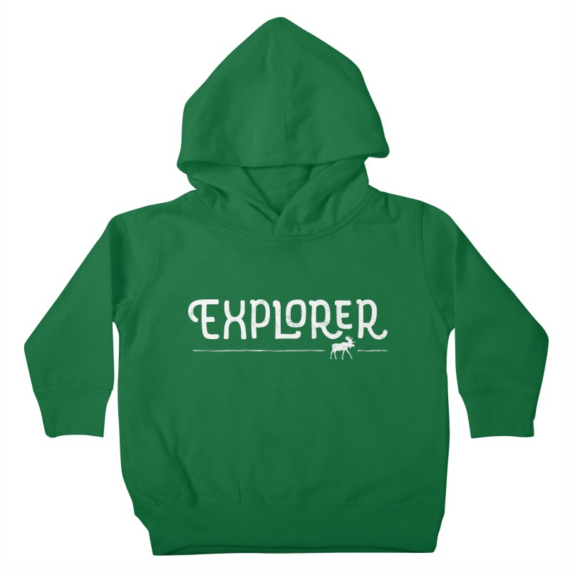 Explorer - In White Kids Toddler Pullover Hoody by Red Pixel Studios