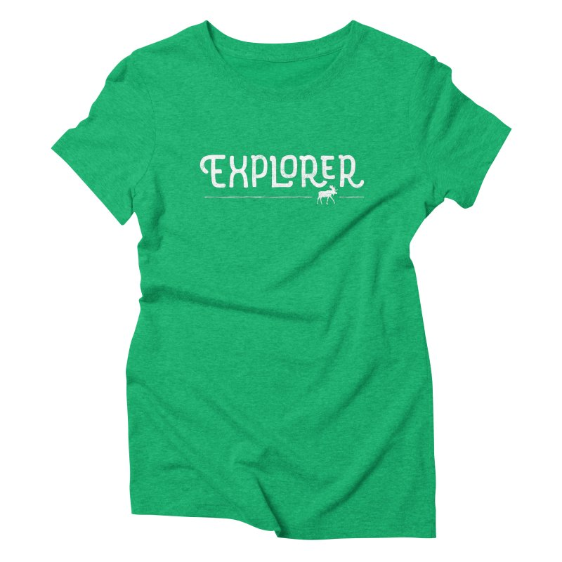 Explorer - In White Women's Triblend T-Shirt by Red Pixel Studios