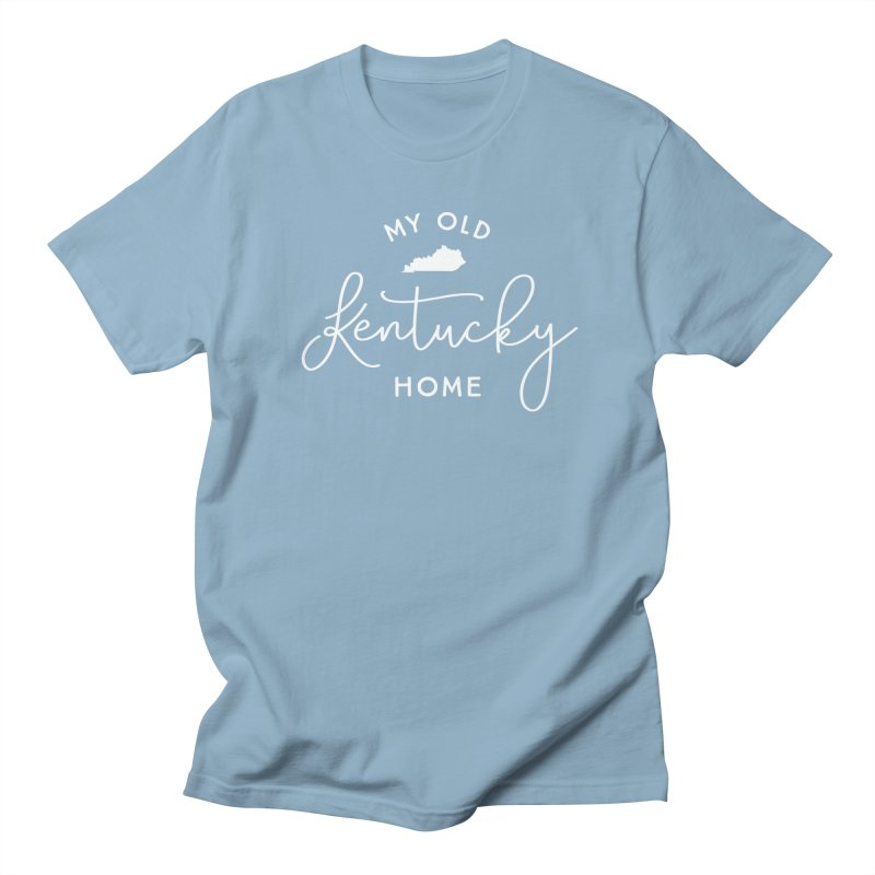 My Old Kentucky Home in Men's Regular T-Shirt Light Blue by Red Pixel Studios