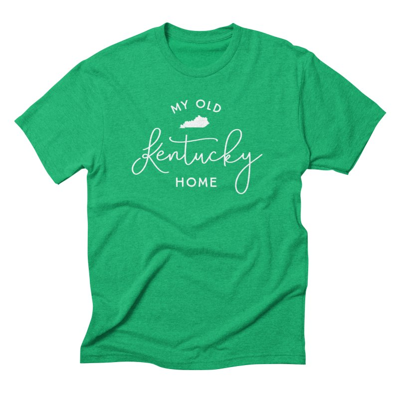 My Old Kentucky Home Men's Triblend T-Shirt by Red Pixel Studios