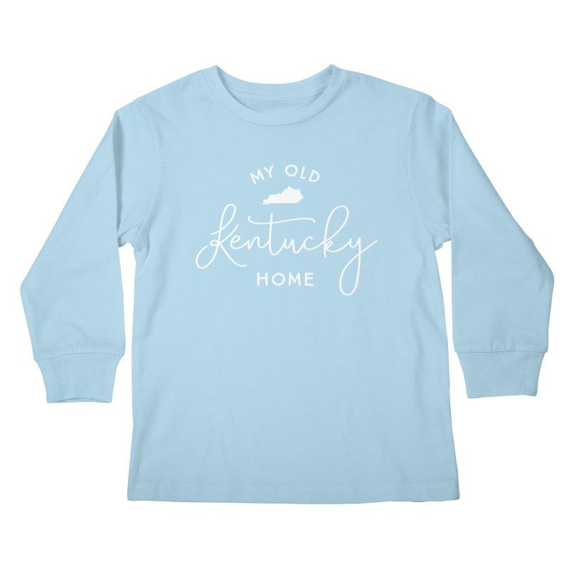 My Old Kentucky Home Kids Longsleeve T-Shirt by Red Pixel Studios