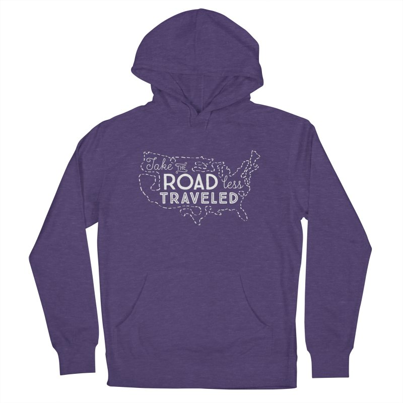 Road Less Traveled Women's French Terry Pullover Hoody by Red Pixel Studios