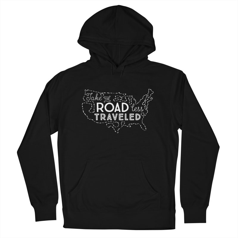 Road Less Traveled Men's French Terry Pullover Hoody by Red Pixel Studios