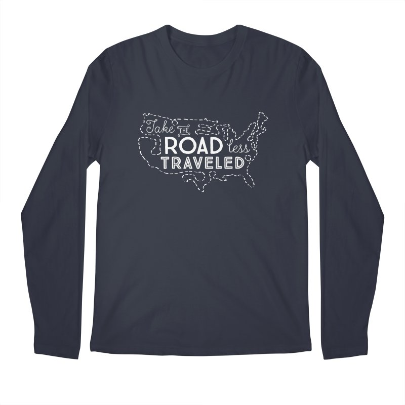 Road Less Traveled Men's Regular Longsleeve T-Shirt by Red Pixel Studios