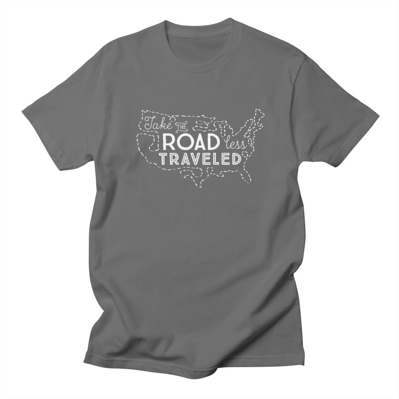 Road Less Traveled Men's T-Shirt by Red Pixel Studios