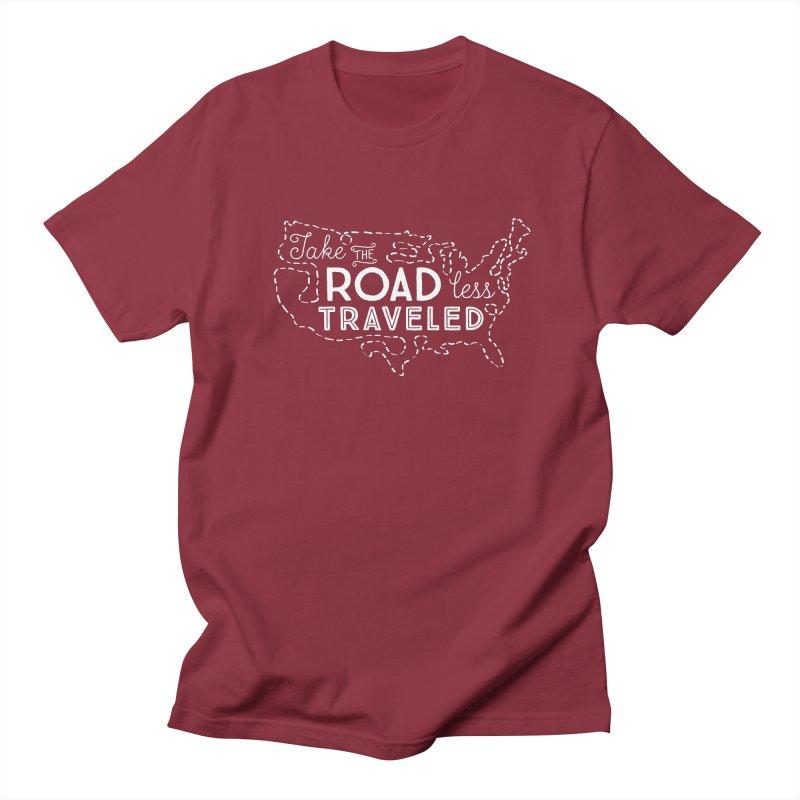 Road Less Traveled Men's Regular T-Shirt by Red Pixel Studios
