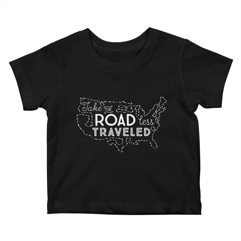 Road Less Traveled Kids Baby T-Shirt by Red Pixel Studios