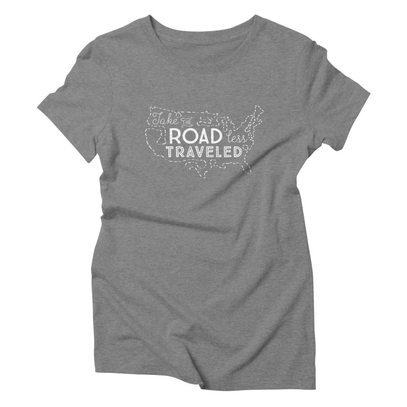 Road Less Traveled Women's Triblend T-Shirt by Red Pixel Studios