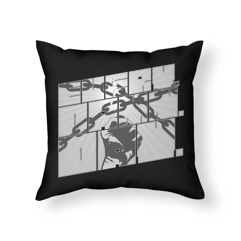 Every. Damn. Day. Home Throw Pillow by Red Robot