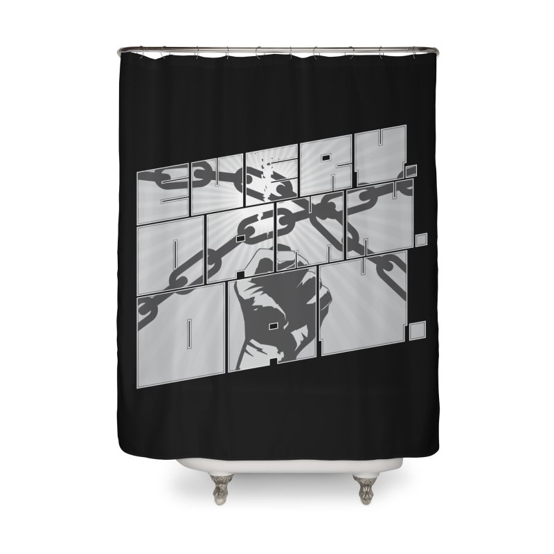 Every. Damn. Day. Home Shower Curtain by Red Robot