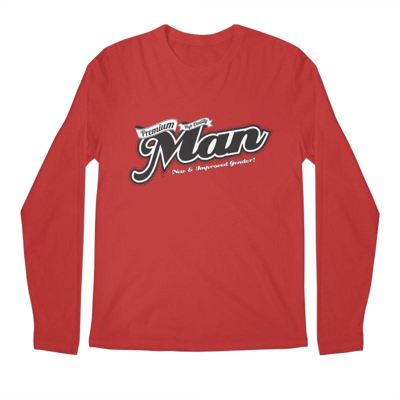 Premium High-quality Man Men's Regular Longsleeve T-Shirt by Red Robot