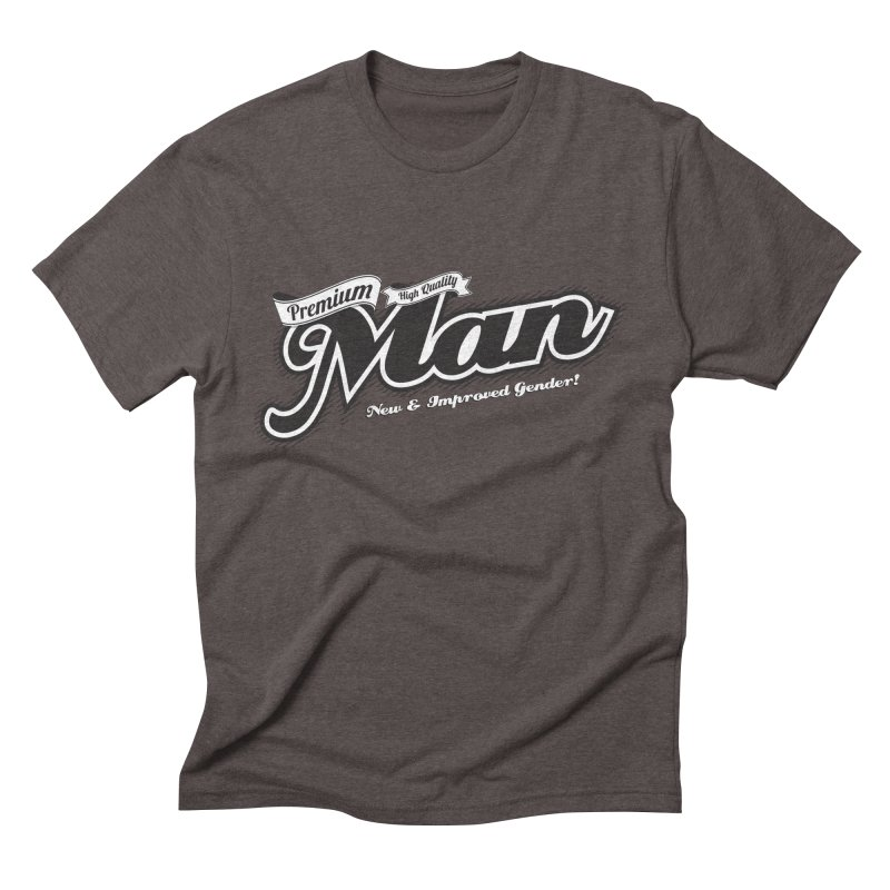 Premium High-quality Man Men's Triblend T-shirt by Red Robot