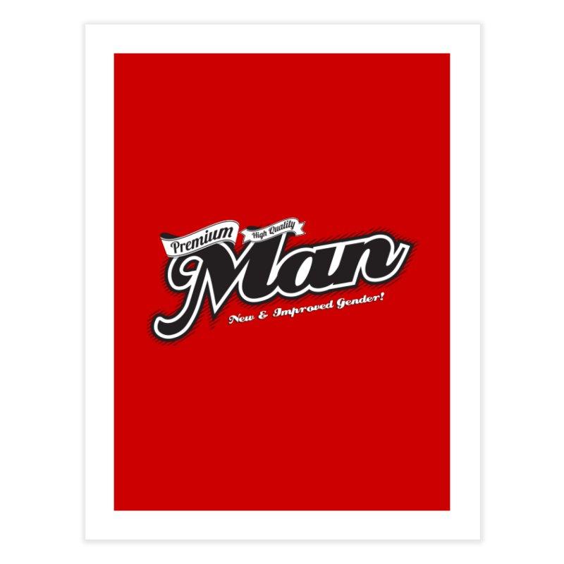 Premium High-quality Man Home Fine Art Print by Red Robot