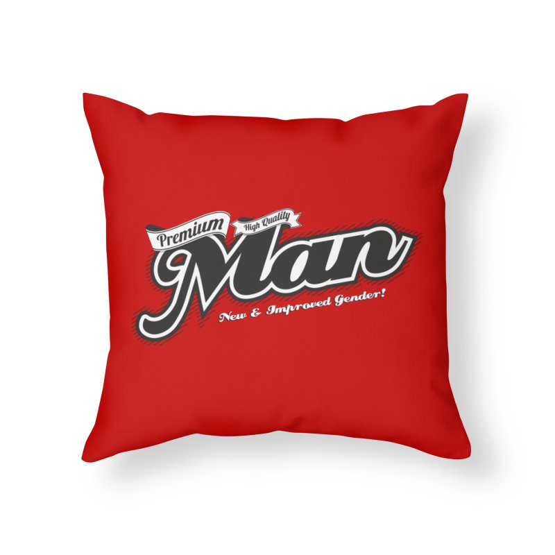 Premium High-quality Man Home Throw Pillow by Red Robot