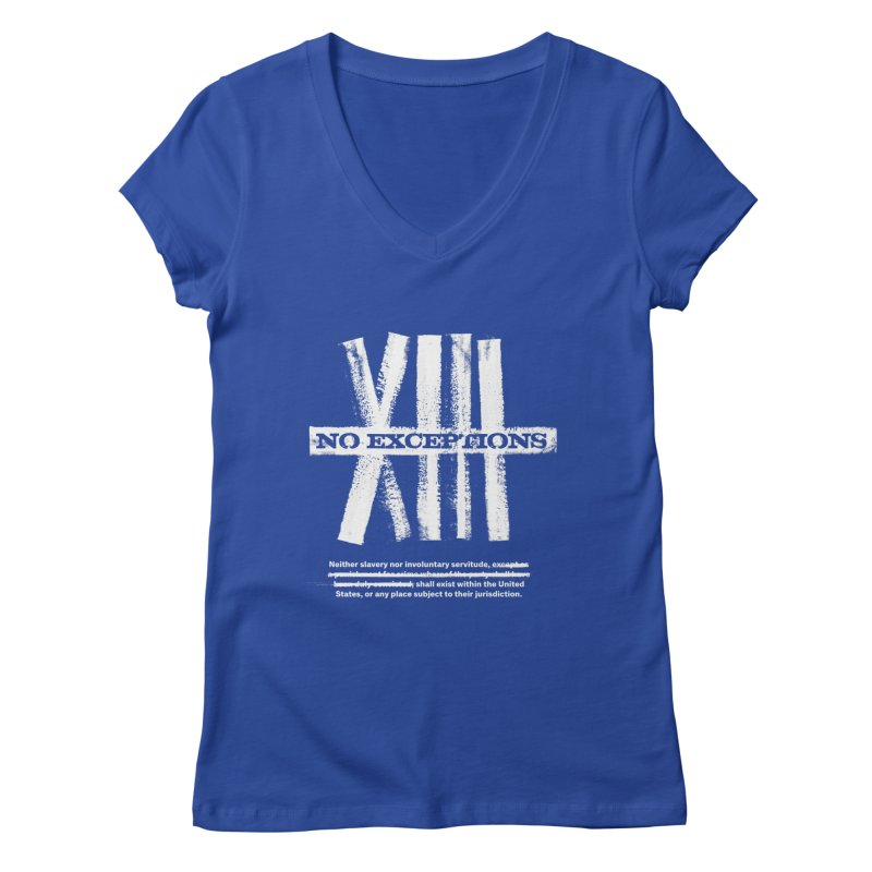 13th Women's V-Neck by Red Robot