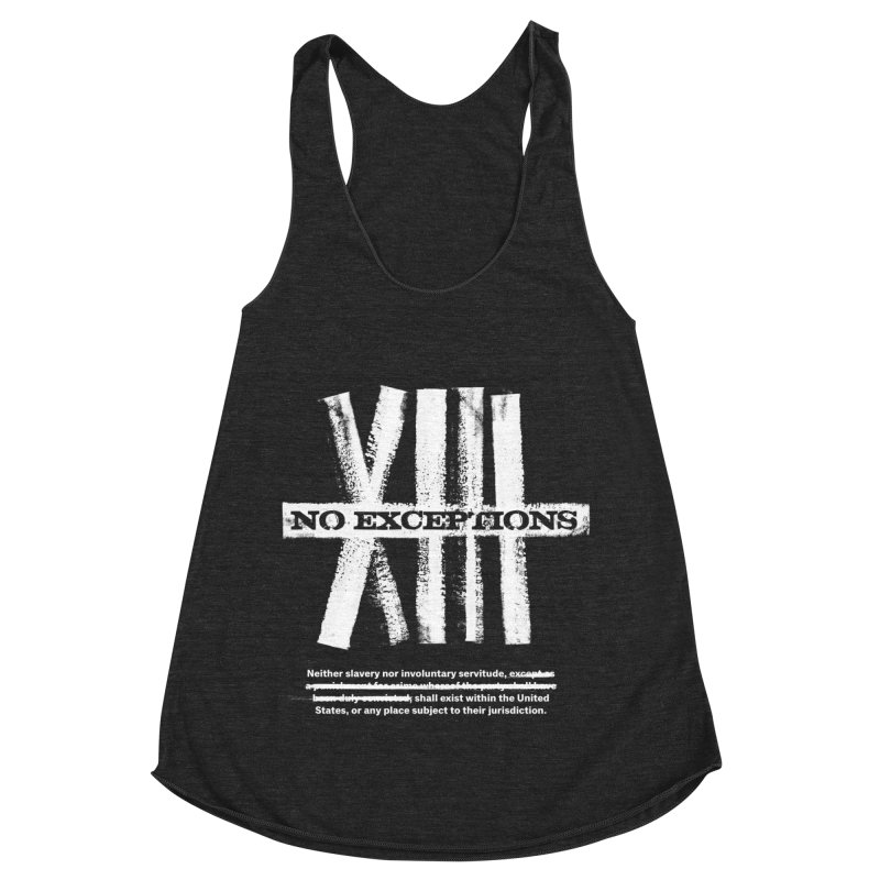 13th Women's Racerback Triblend Tank by Red Robot