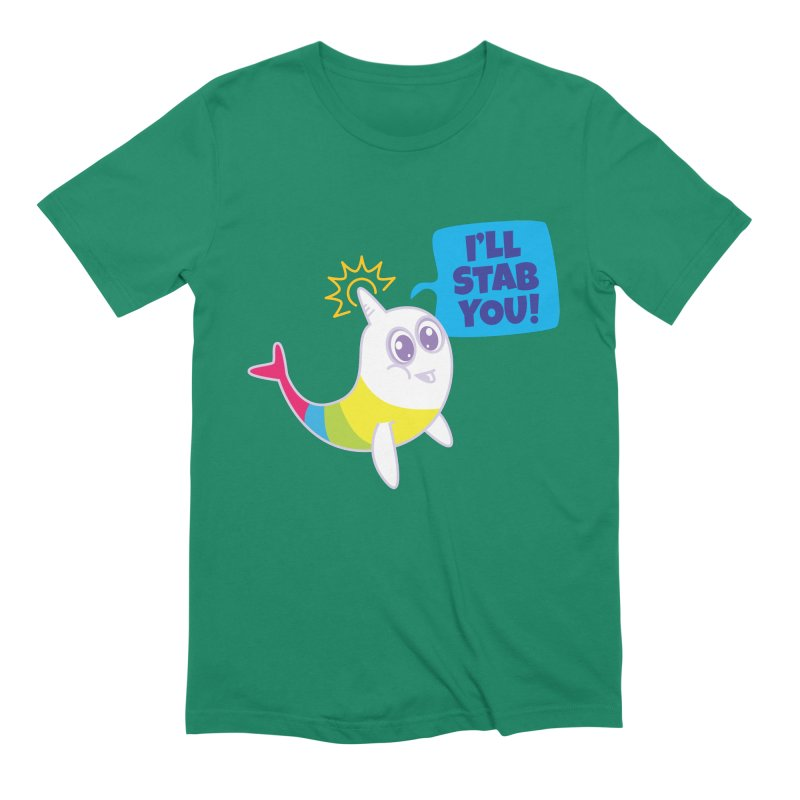 Stabby McNarwhal Men's Extra Soft T-Shirt by Red Robot