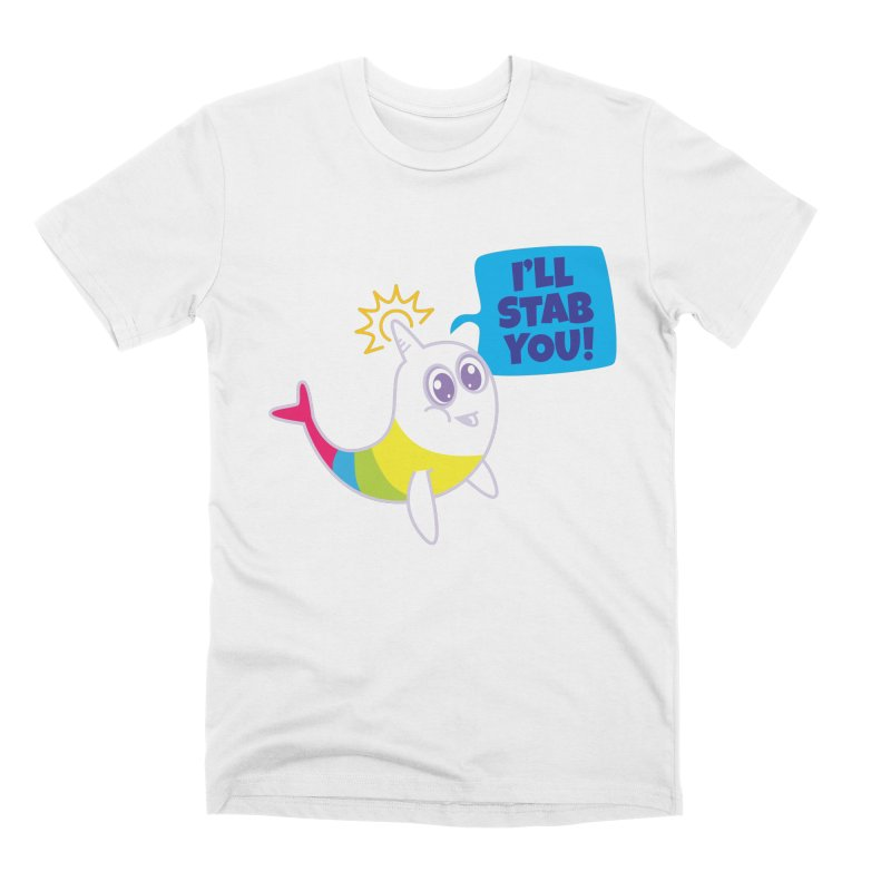 Stabby McNarwhal Men's T-Shirt by Red Robot