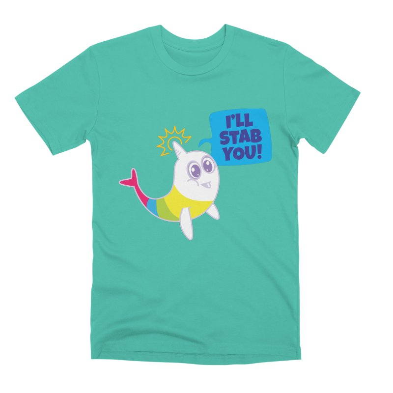 Stabby McNarwhal Men's Premium T-Shirt by Red Robot