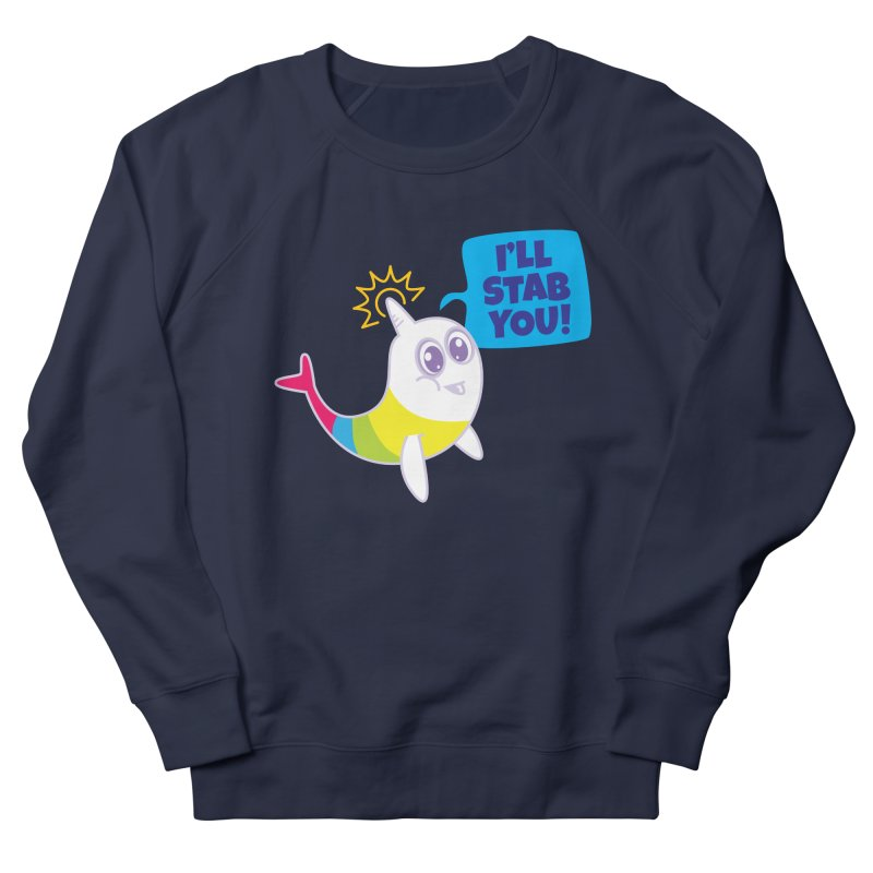 Stabby McNarwhal Women's French Terry Sweatshirt by Red Robot
