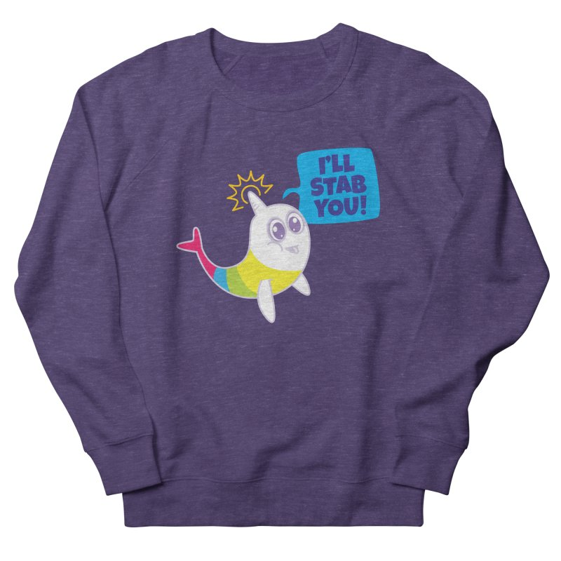 Stabby McNarwhal Men's French Terry Sweatshirt by Red Robot