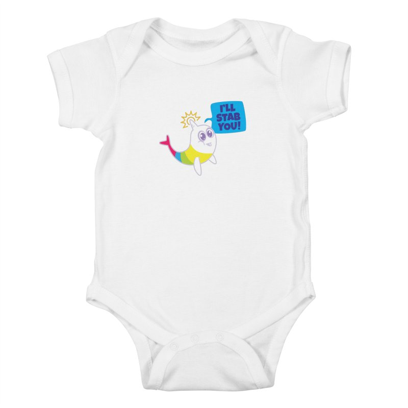 Stabby McNarwhal Kids Baby Bodysuit by Red Robot