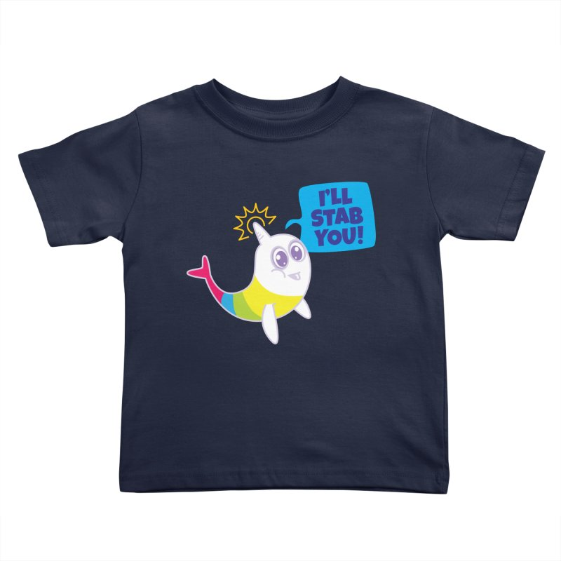Stabby McNarwhal Kids Toddler T-Shirt by Red Robot