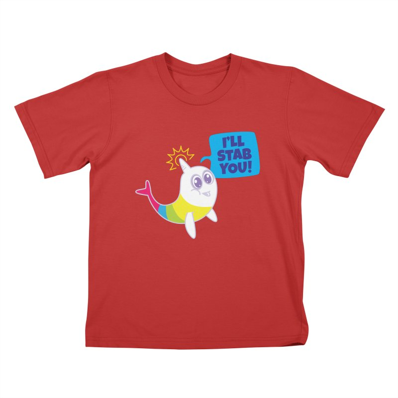 Stabby McNarwhal Kids T-Shirt by Red Robot