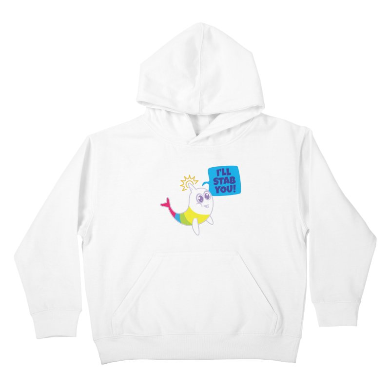 Stabby McNarwhal Kids Pullover Hoody by Red Robot