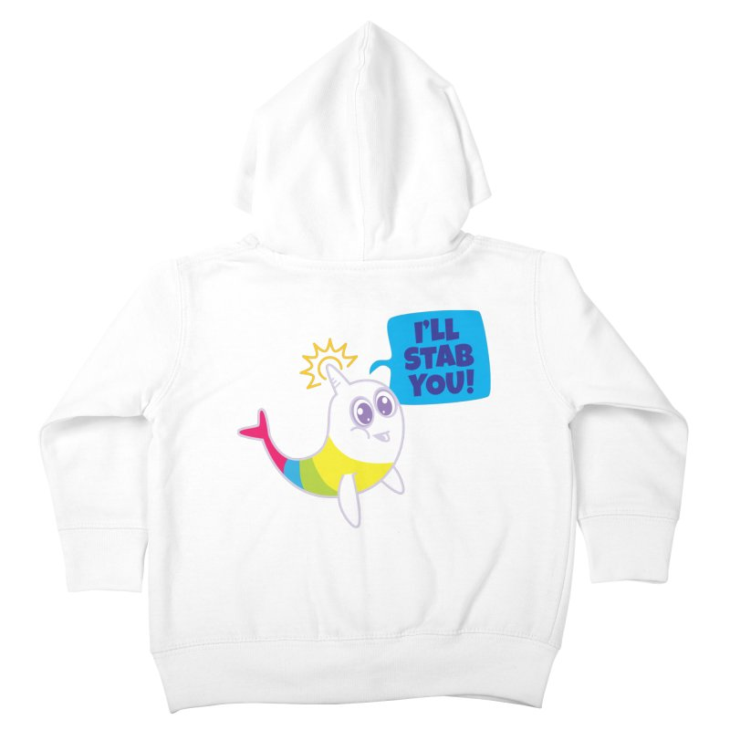 Stabby McNarwhal Kids Toddler Zip-Up Hoody by Red Robot