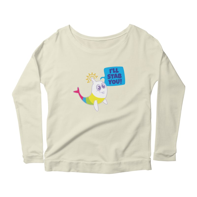 Stabby McNarwhal Women's Scoop Neck Longsleeve T-Shirt by Red Robot