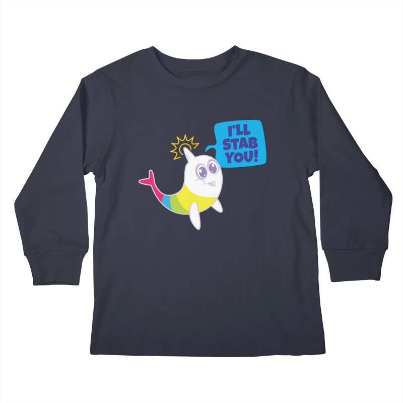 Stabby McNarwhal Kids Longsleeve T-Shirt by Red Robot