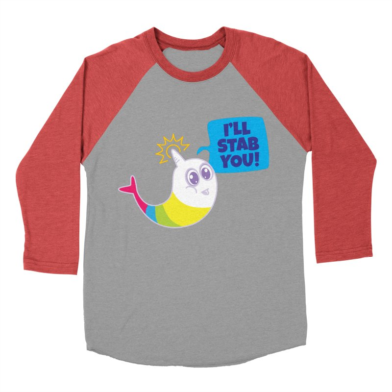 Stabby McNarwhal Women's Baseball Triblend T-Shirt by Red Robot