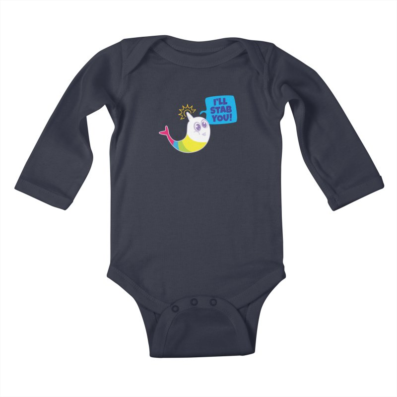 Stabby McNarwhal Kids Baby Longsleeve Bodysuit by Red Robot
