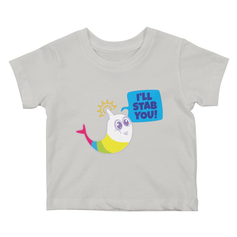 Stabby McNarwhal Kids Baby T-Shirt by Red Robot