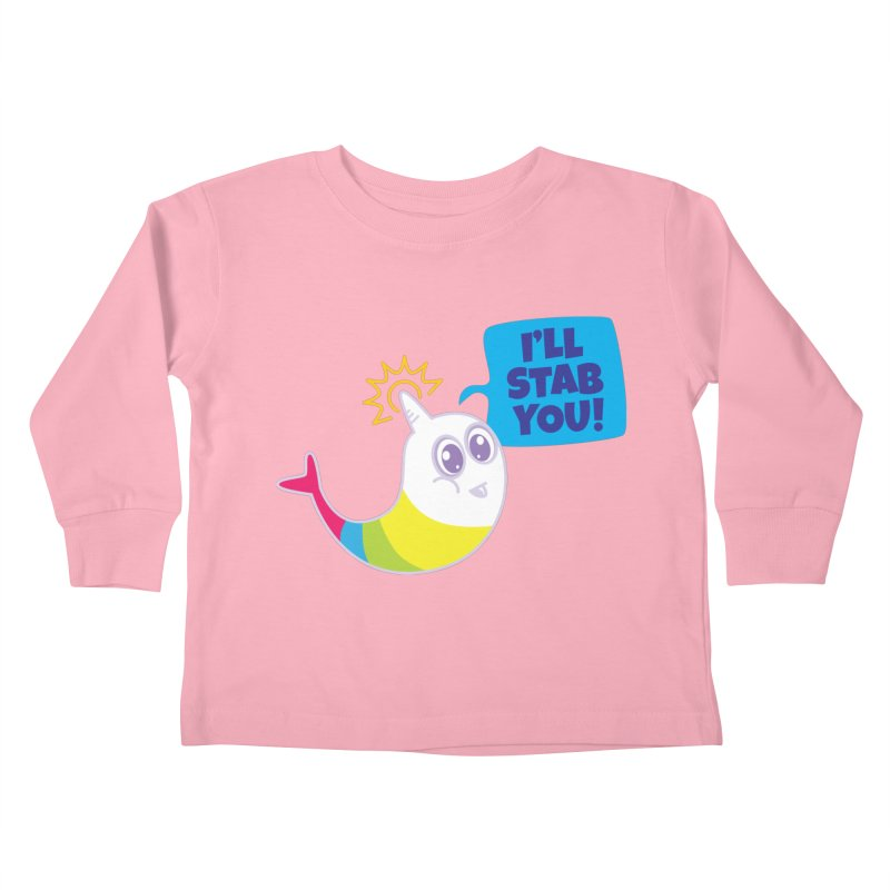 Stabby McNarwhal Kids Toddler Longsleeve T-Shirt by Red Robot