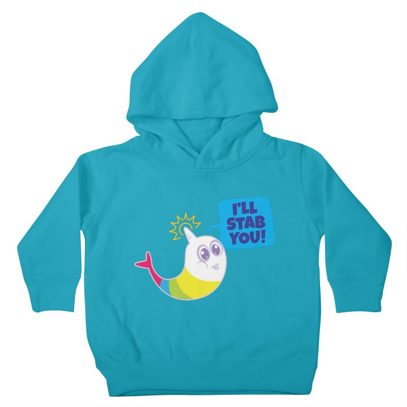 Stabby McNarwhal Kids Toddler Pullover Hoody by Red Robot
