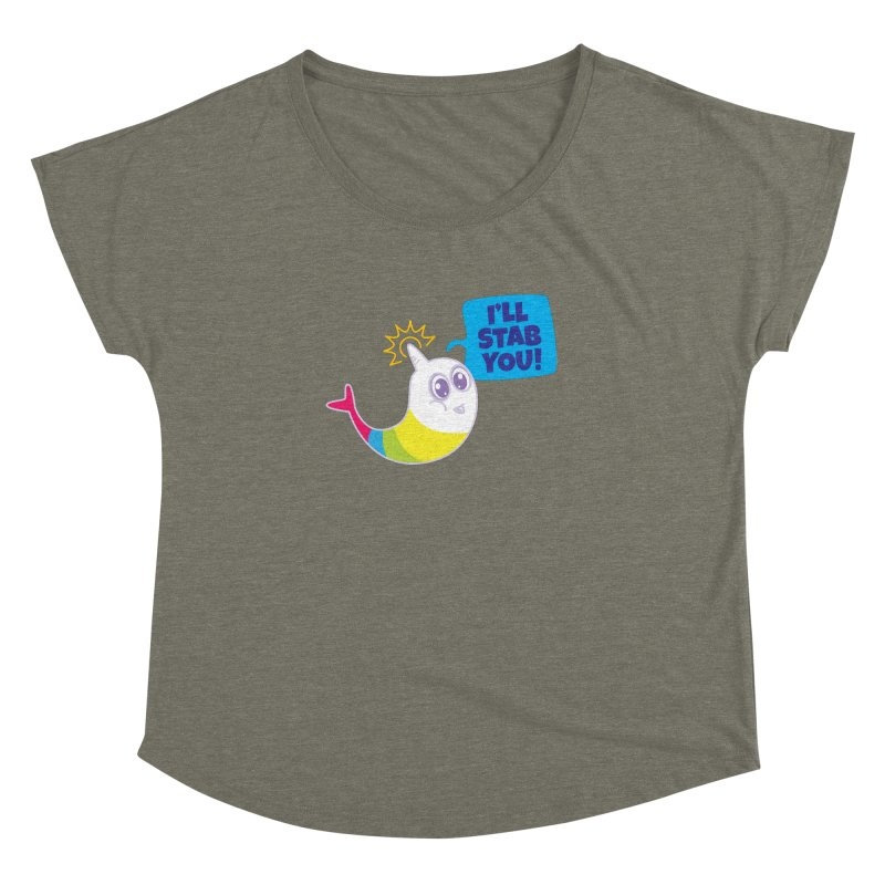 Stabby McNarwhal Women's Dolman by Red Robot
