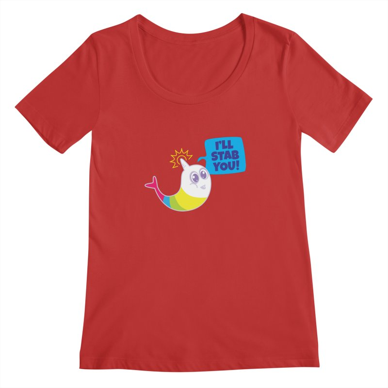 Stabby McNarwhal Women's Scoopneck by Red Robot